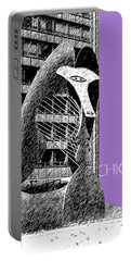 Chicago Pablo Picasso - Violet Portable Battery Charger