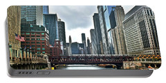Chicago River And City Portable Battery Charger