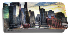 Chicago River Portable Battery Charger by Tammy Wetzel