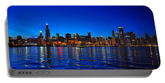 Chicago Skyline At Dusk Portable Battery Charger