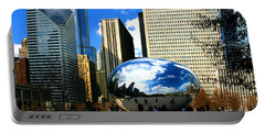 Chicago Skyline Bean Portable Battery Charger