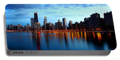 Chicago Skyline Dusk Portable Battery Charger