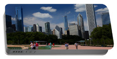 Chicago Skyline Grant Park Portable Battery Charger