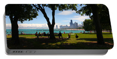 Chicago Skyline Lakefront Park Portable Battery Charger