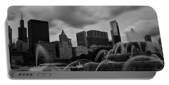 Chicago City Skyline Portable Battery Charger by Miguel Winterpacht