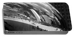 Chicago Skyline Reflected Bean Portable Battery Charger