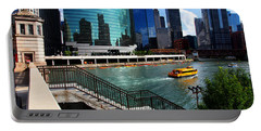 Chicago Skyline River Boat Portable Battery Charger