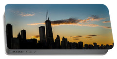 Chicago Skyline Silhouette Portable Battery Charger