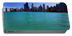 Chicago Skyline Teal Water Portable Battery Charger