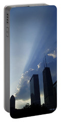 Chicago Sunset Portable Battery Charger by Verana Stark
