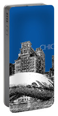 Chicago The Bean - Royal Blue Portable Battery Charger