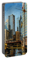 Chicago - The River From The East Portable Battery Charger
