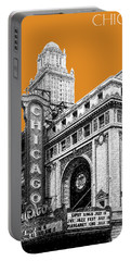 Chicago Theater - Dark Orange Portable Battery Charger