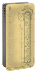 Chicago Theatre Blueprint Portable Battery Charger