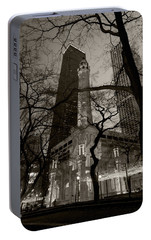 Chicago Water Tower B W Portable Battery Charger by Steve Gadomski