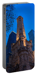 Chicago Water Tower Panorama Portable Battery Charger