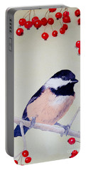 Chickadee Portable Battery Charger by Laurel Best