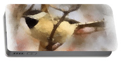 Chickadee Watercolor Portable Battery Charger by Kerri Farley