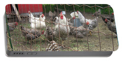 Chicken Coop. Portable Battery Charger by Francine Heykoop