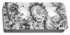 Portable Battery Charger featuring the photograph Rooster And Chicken House Chromed by Belinda Lee