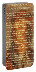 Chief Tecumseh Poem Portable Battery Charger by Dan Sproul