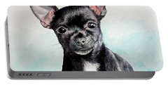 Chihuahua Black Portable Battery Charger
