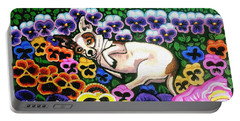 Chihuahua In Flowers Portable Battery Charger