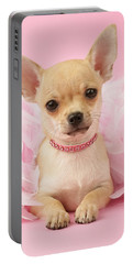 Chihuahua With Feather Boa Portable Battery Charger
