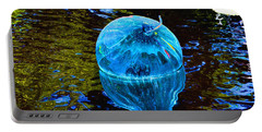Artsy Blue Glass Float Portable Battery Charger