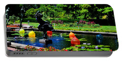 Chihuly Glass Balls In Missouri Botanical Garden Portable Battery Charger