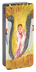 Child Being Escorted Into Heaven Portable Battery Charger