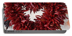 Portable Battery Charger featuring the photograph Chili Pepper Heart by Kerri Mortenson