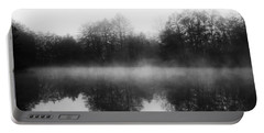 Chilly Morning Reflections Portable Battery Charger by Miguel Winterpacht