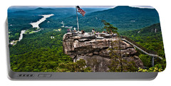 Portable Battery Charger featuring the photograph Chimney Rock At Lake Lure by Alex Grichenko