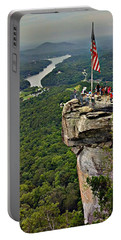 Portable Battery Charger featuring the photograph Chimney Rock Overlook by Alex Grichenko