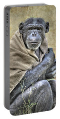 Portable Battery Charger featuring the photograph Chimpanzee by Savannah Gibbs