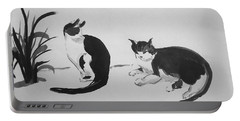 Chinese Painting Cats Portable Battery Charger