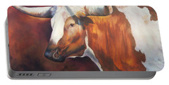 Chisholm Longhorn Portable Battery Charger by Karen Kennedy Chatham