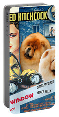 Chow Chow Art Canvas Print - Rear Window Movie Poster Portable Battery Charger
