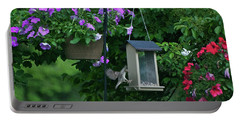 Portable Battery Charger featuring the photograph Chow Time For This Bird by Thomas Woolworth