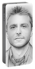 Chris Hardwick Portable Battery Charger by Olga Shvartsur