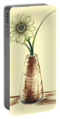 Chrysanthemum Flower Portable Battery Charger