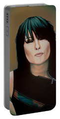 Chrissie Hynde Painting Portable Battery Charger