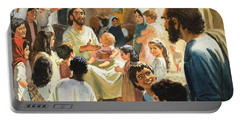 Christ With Children Portable Battery Charger
