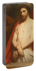 Christ With The Reed Oil On Canvas Portable Battery Charger