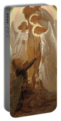 Christian At The Foot Of The Cross Portable Battery Charger