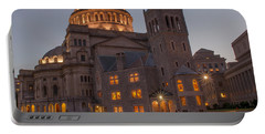 Portable Battery Charger featuring the photograph Christian Science Center 2 by Mike Ste Marie