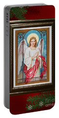 Portable Battery Charger featuring the digital art Christmas Angel Art Prints Or Cards by Valerie Garner