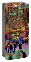 Portable Battery Charger featuring the photograph Christmas At The Rock by Chris Lord