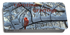 Christmas Card - Christmas Greeting Portable Battery Charger by Larry Bishop